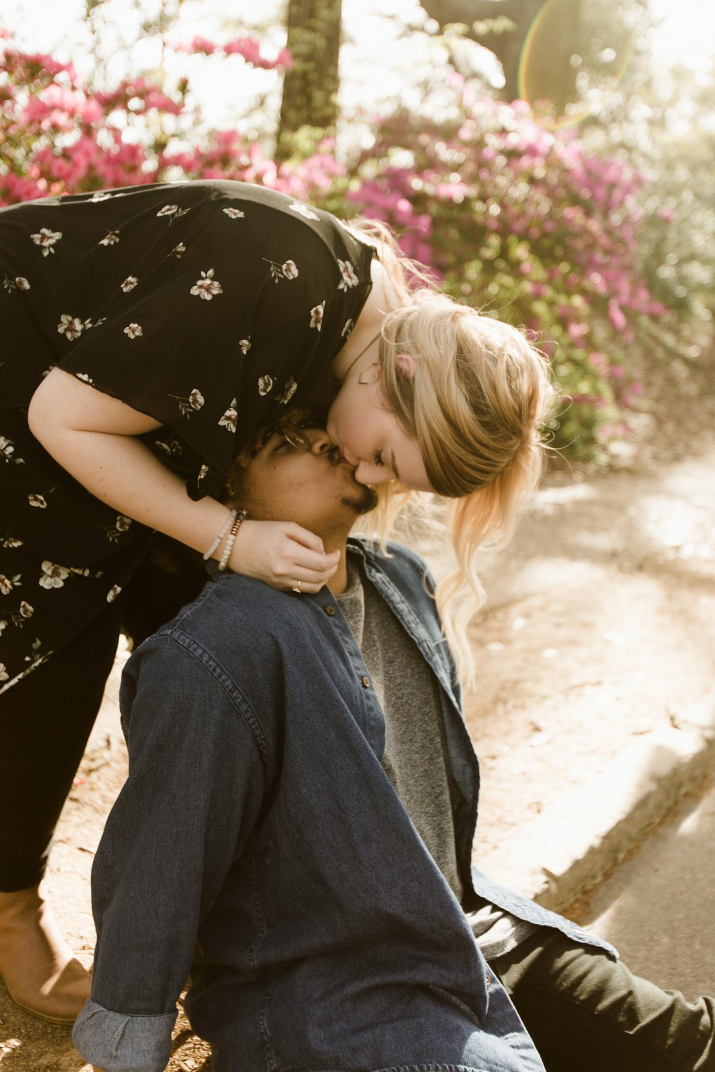 Atlanta Anniversary Photographer | Spring Jean Jacket wardrobe