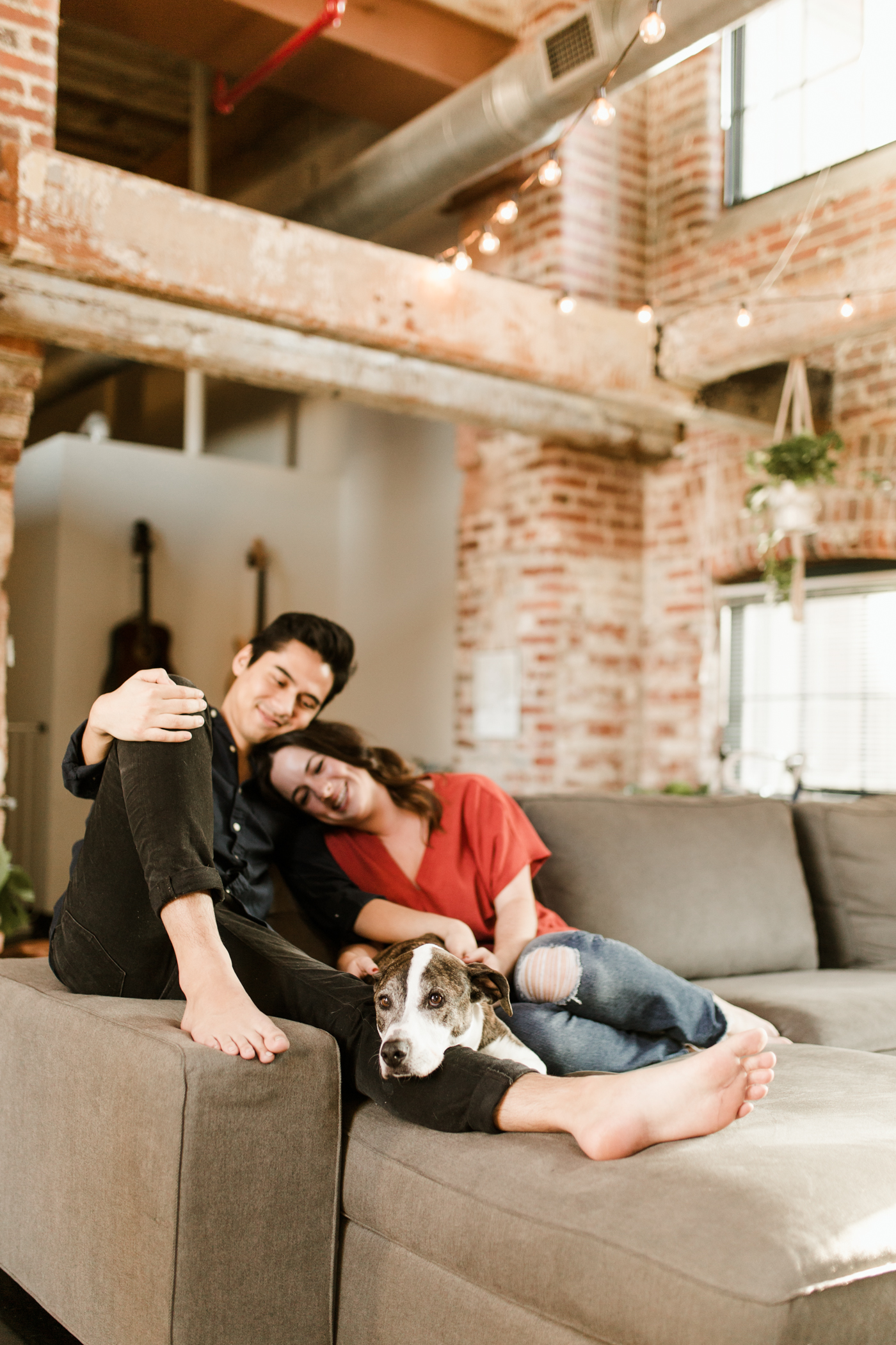 Atlanta Loft In Home Engagement Session