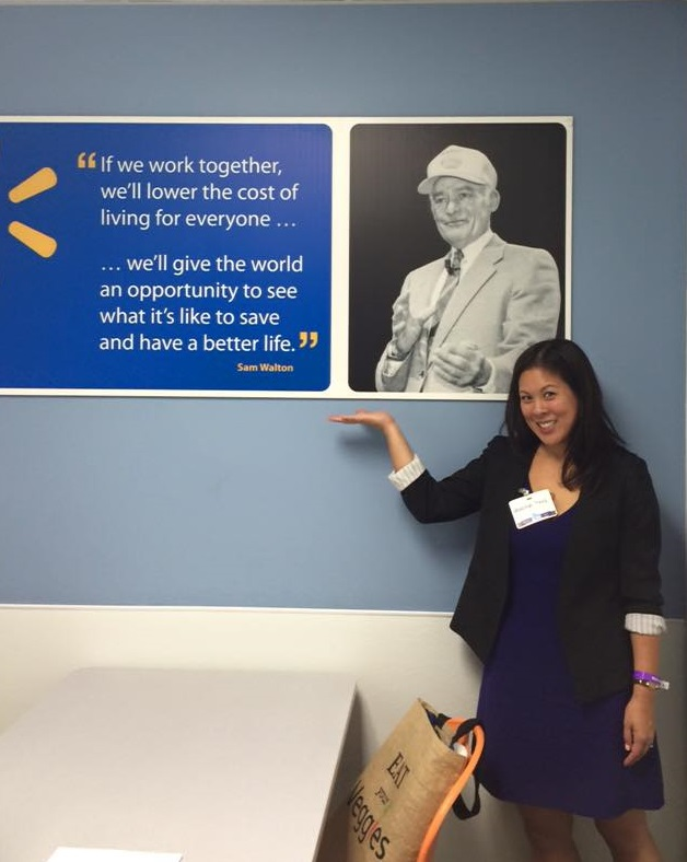 Vanessa at Walmart Home Office (HQ) in Bentonville, Arkansas