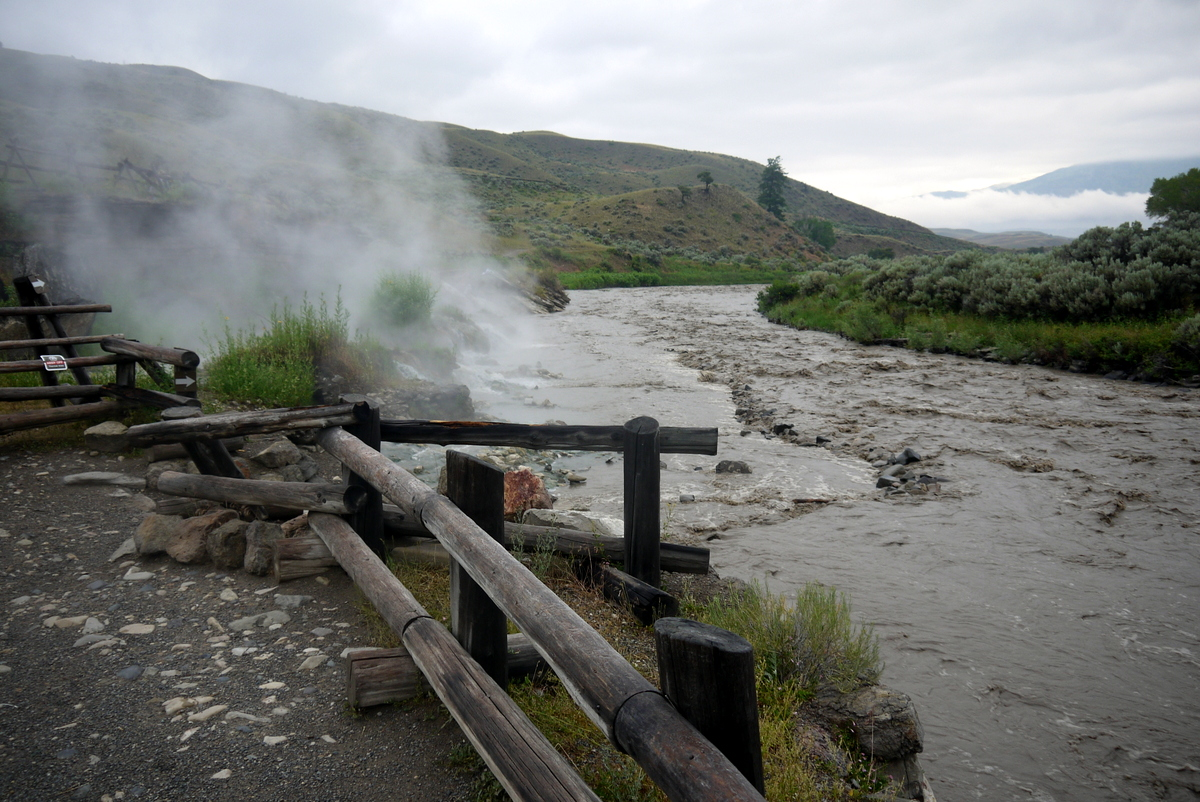 The boiling river in Yellowstone.