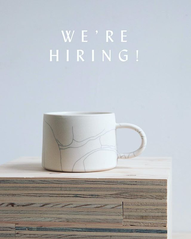 We're looking for an enthusiastic and reliable shop associate to join our team 2-5 days a week! Must love pottery and people 💕 Send us your resume at hello@earthen-shop.com
