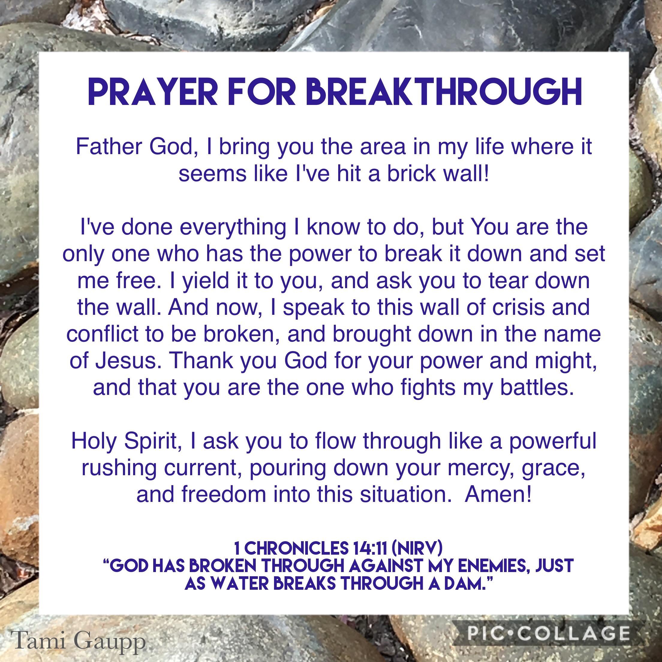 Prayer For Breakthrough