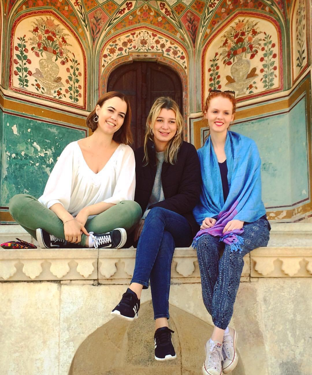 At Amber Fort, Alice, Charlotte and Maddie