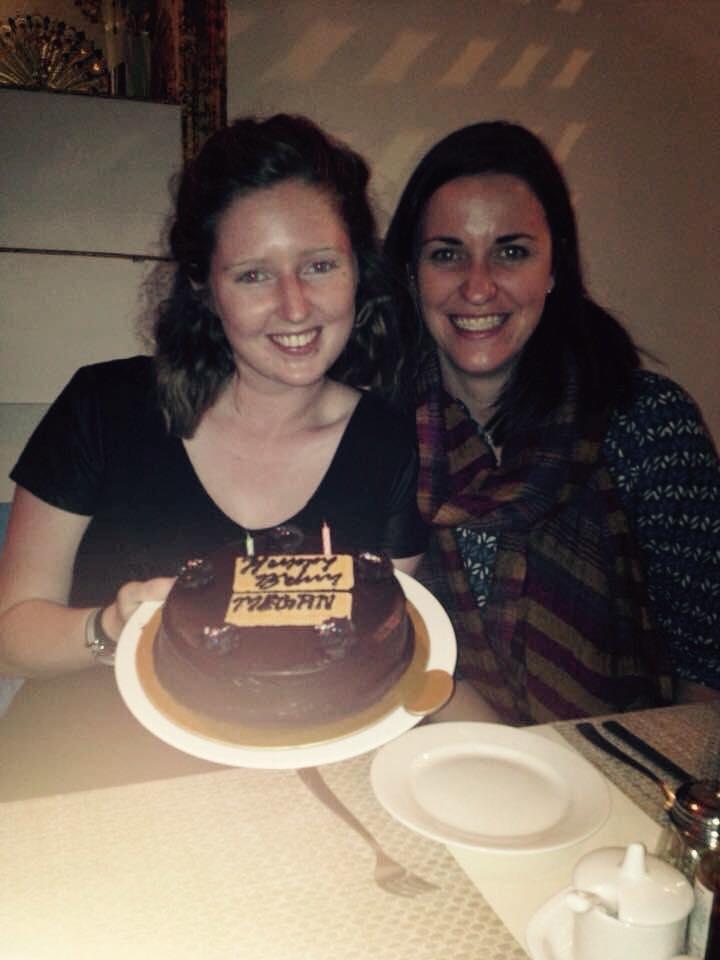 Celebrating Meg's birthday in Jaipur