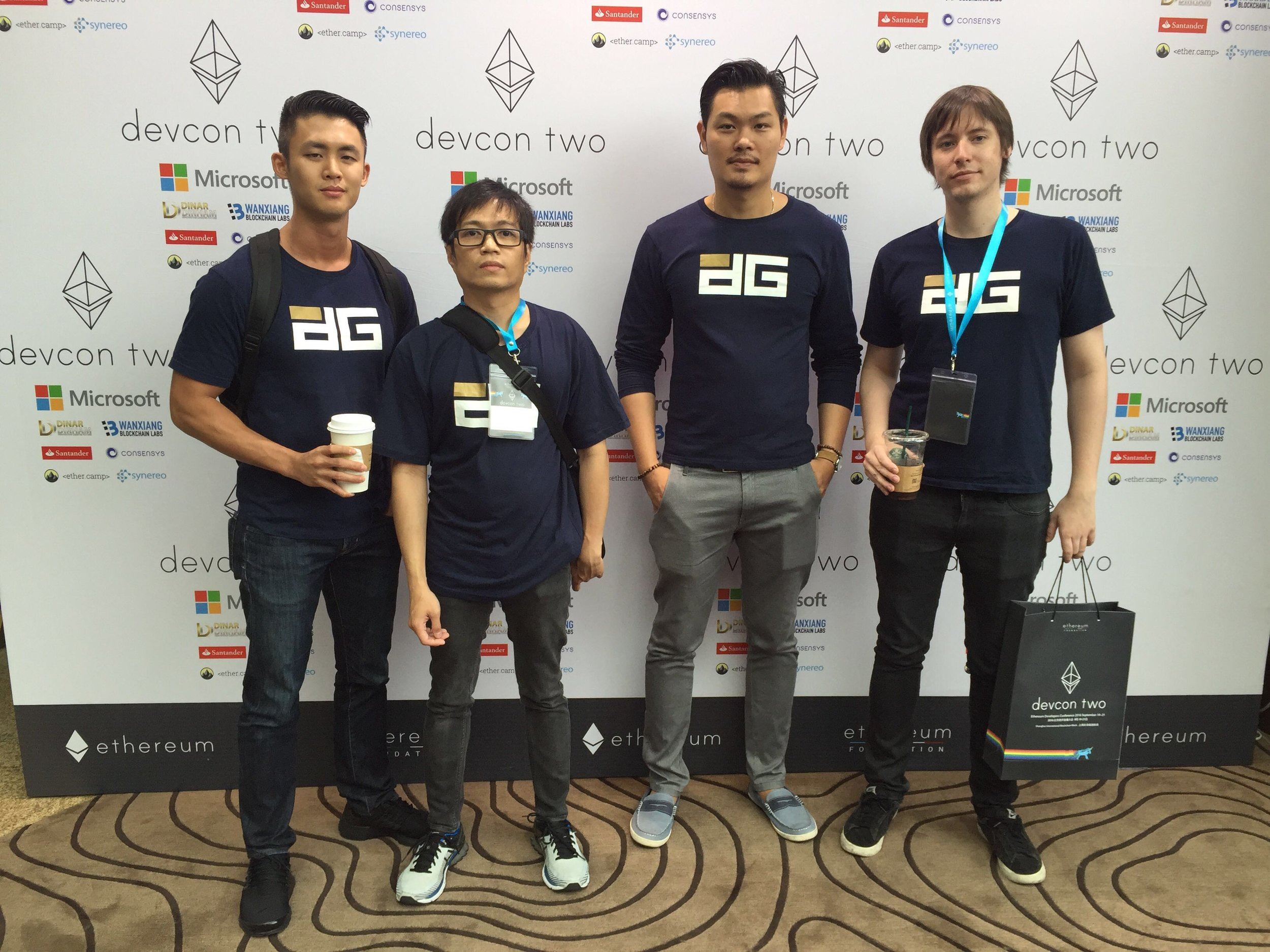 Digix Global's core team (left to right): Shaun Djie (CCO), Anthony Eufemio (CTO), KC Chng (CEO) and Chris Hitchcott (core developer). Photo credit: Digix Global.