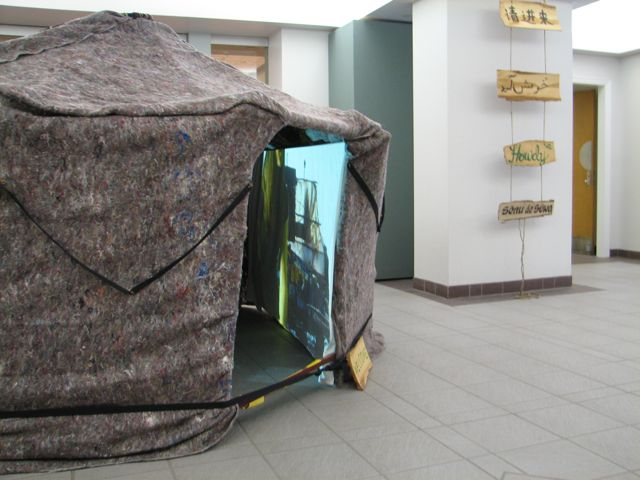 A glimpse at the video inside of the yurt
