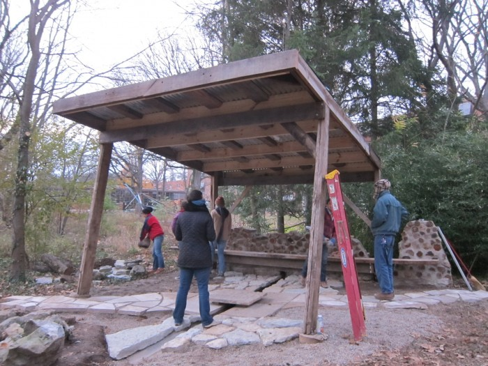 Roof completed(photo by Charles Vinz)