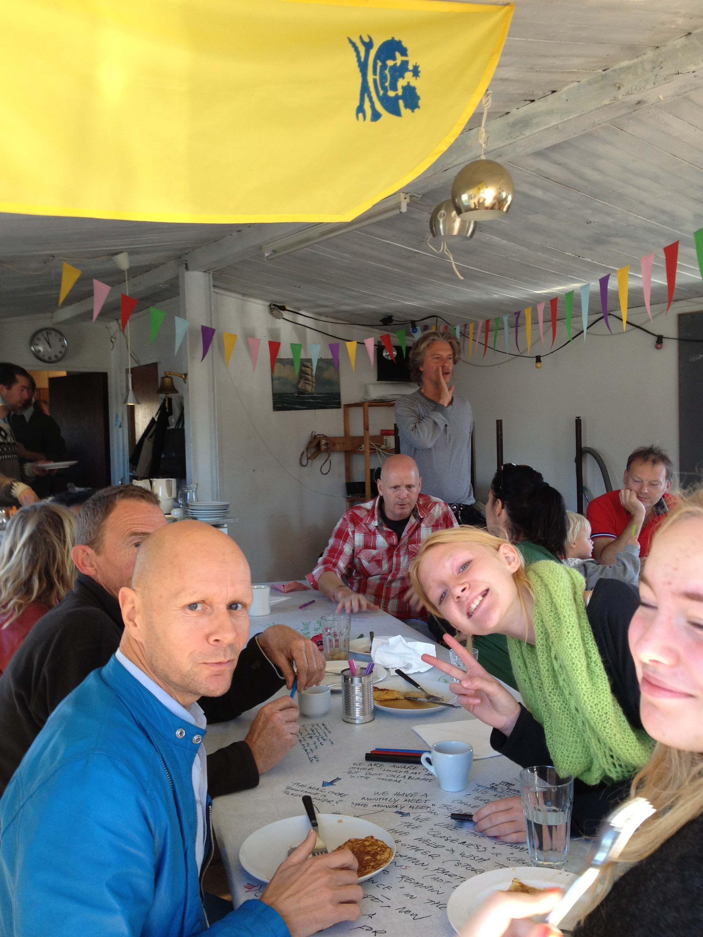 Skibboren pancake dialog, held on the community houseboat in Skibbroen, Copenhagen, Denmark