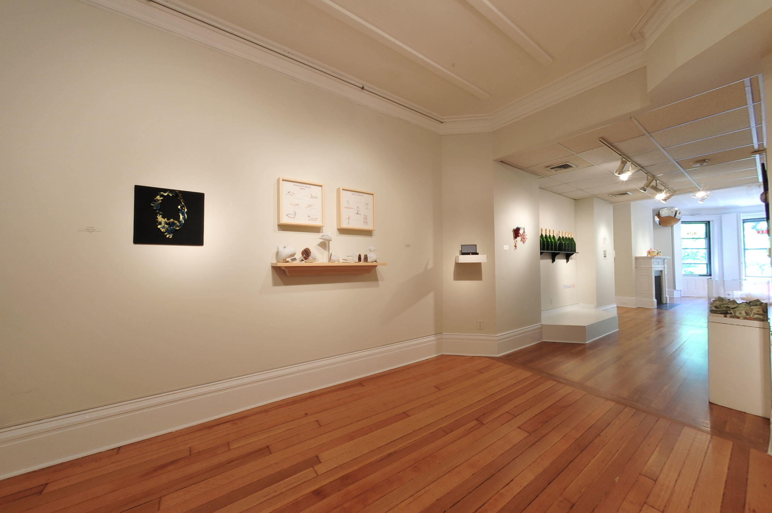 Installation view from Political Craft exhibition at the Society of Arts and Crafts, Boston. Photo by Fabio Fernandez