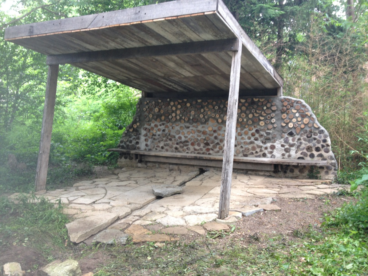 The Tea House completed structure, Summer 2014