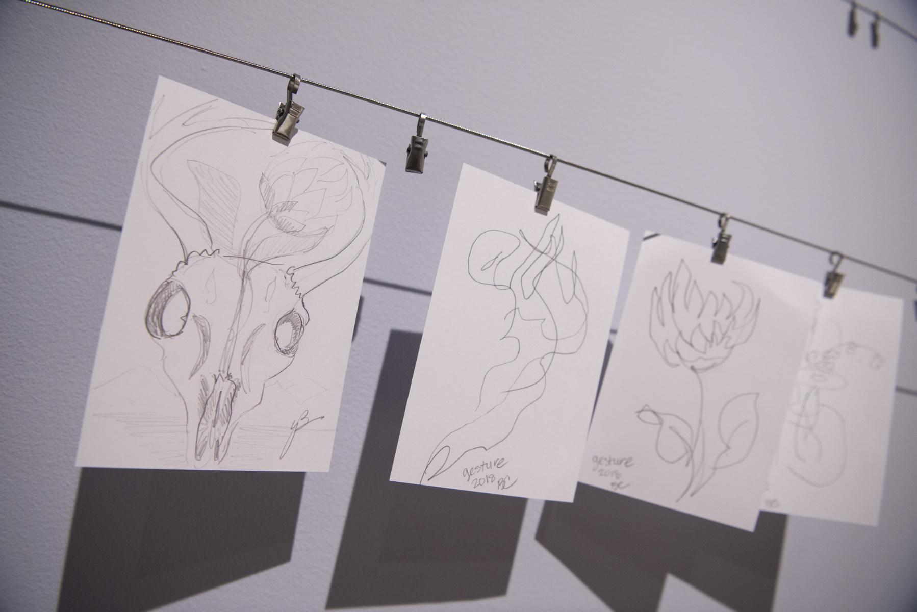 Visitor drawings.