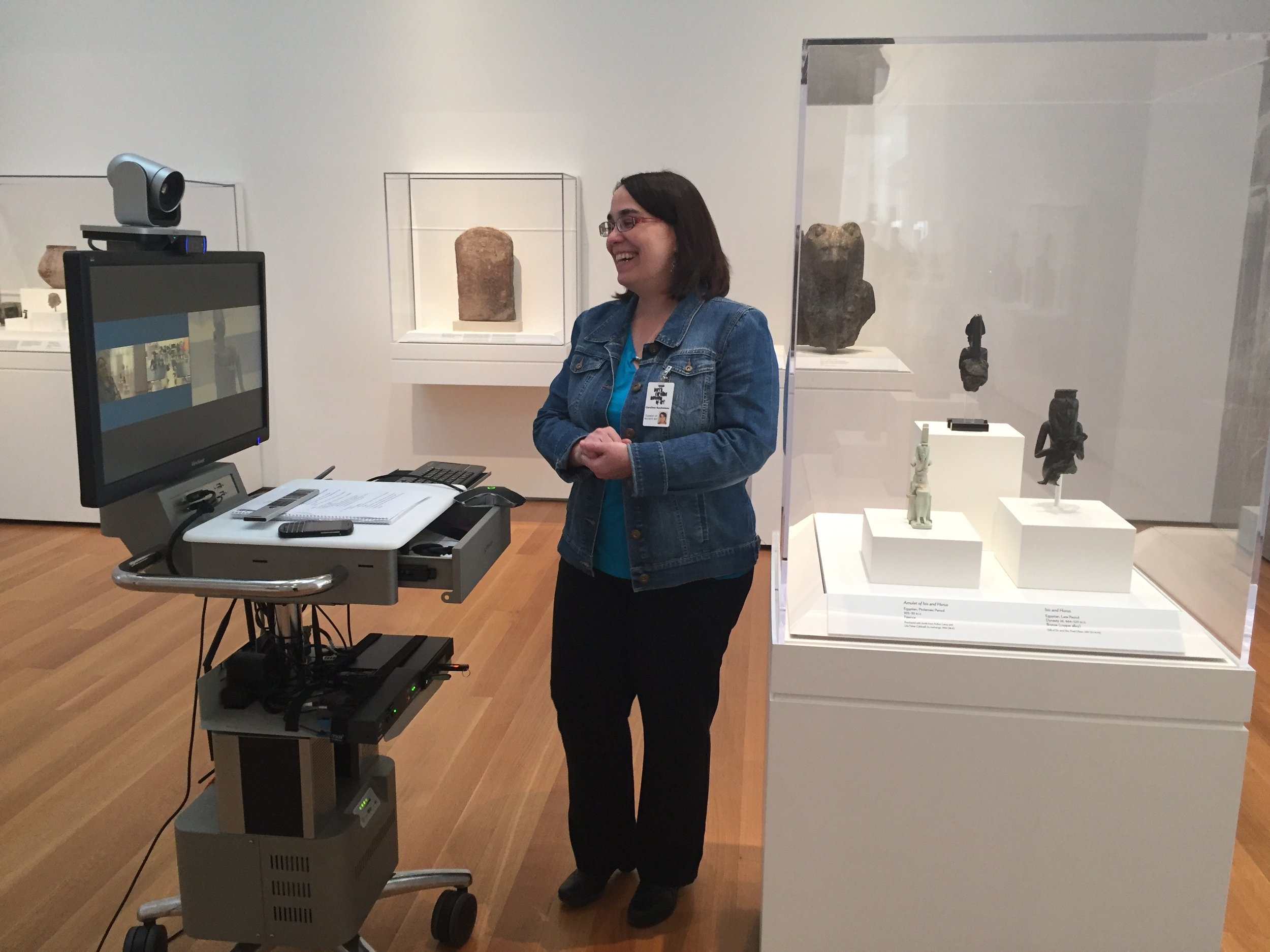 Live discussions with curators in the galleries during a blended learning program.