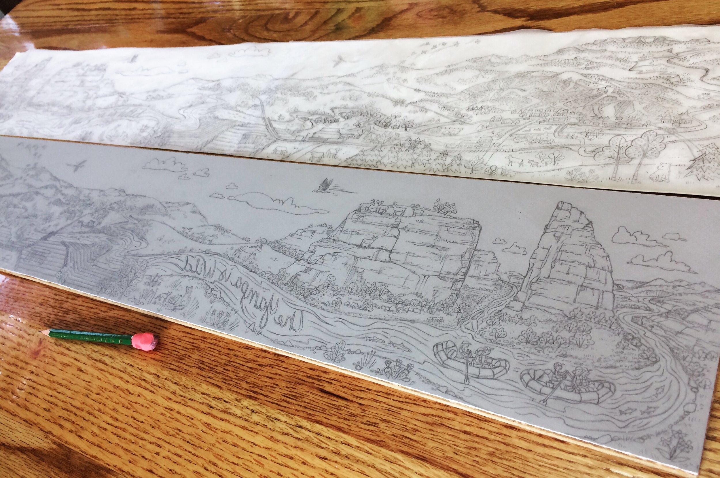 River drawing on block.JPG