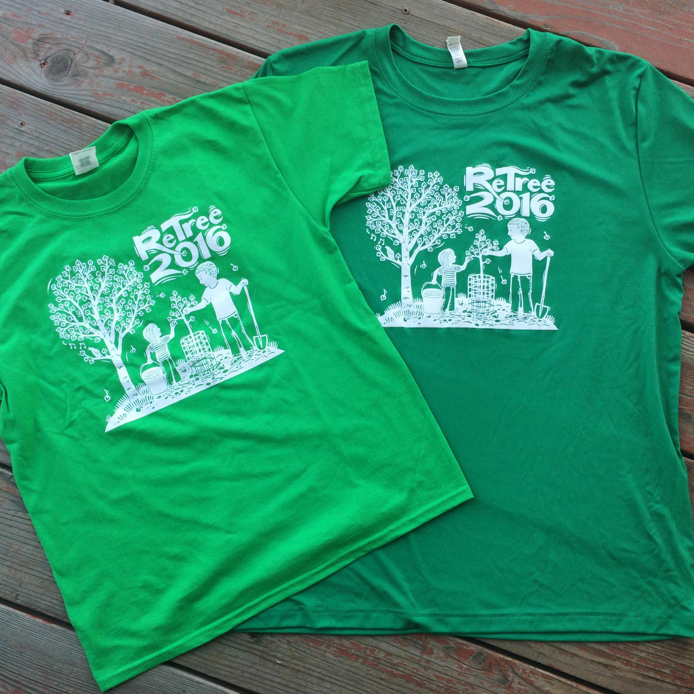 ReTree 2016 t-shirts