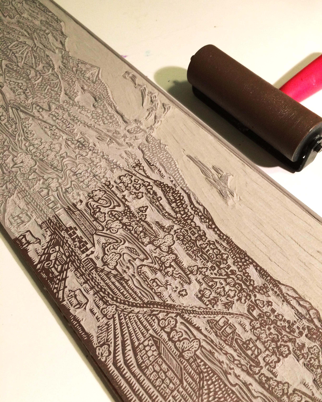 Printing the Yampa linocut.jpg