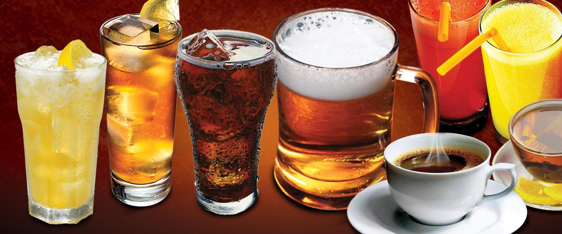 DRINK ALL-YOU-CAN!  Coke/Coke Zero,Royal Orange,Sprite,Hi-C Apple,Sarsi,Orange Juice,Mango Juice,Pineapple Juice,Lemon Iced Tea San Miguel Draft Beer,Freshly Ground Brewed Coffee,Hot Tea