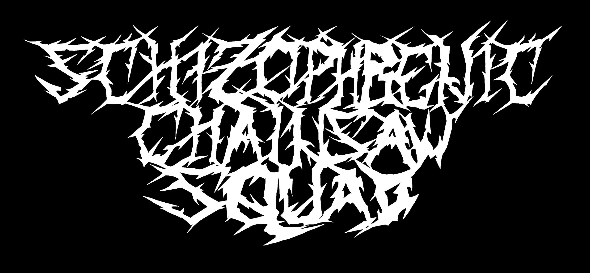Logo for the death metal band Schizophrenic Chainsaw Squad.