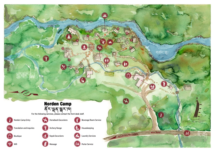 Norden Conscious Travel & Glamping in Tibet Camp Map