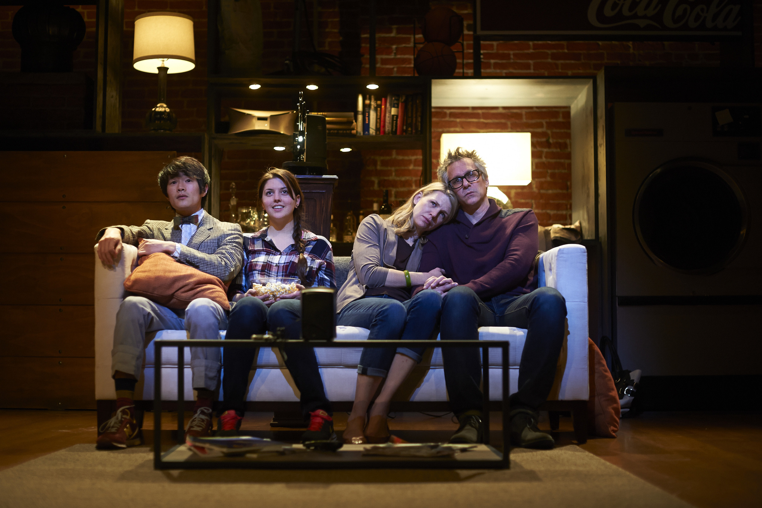 Oblivion Website - Bernard, Julie, Lisa, Dixon watching film.jpg