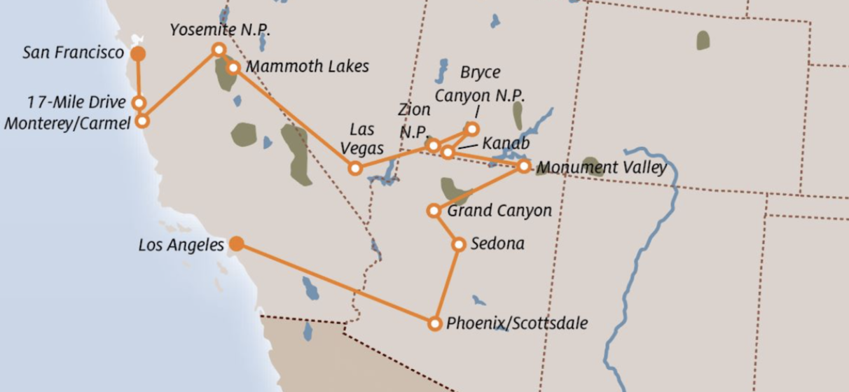 THE COMPLETE WEST COAST EXPERIENCE – NATIONAL PARKS AND SPECTACULAR CITIES!