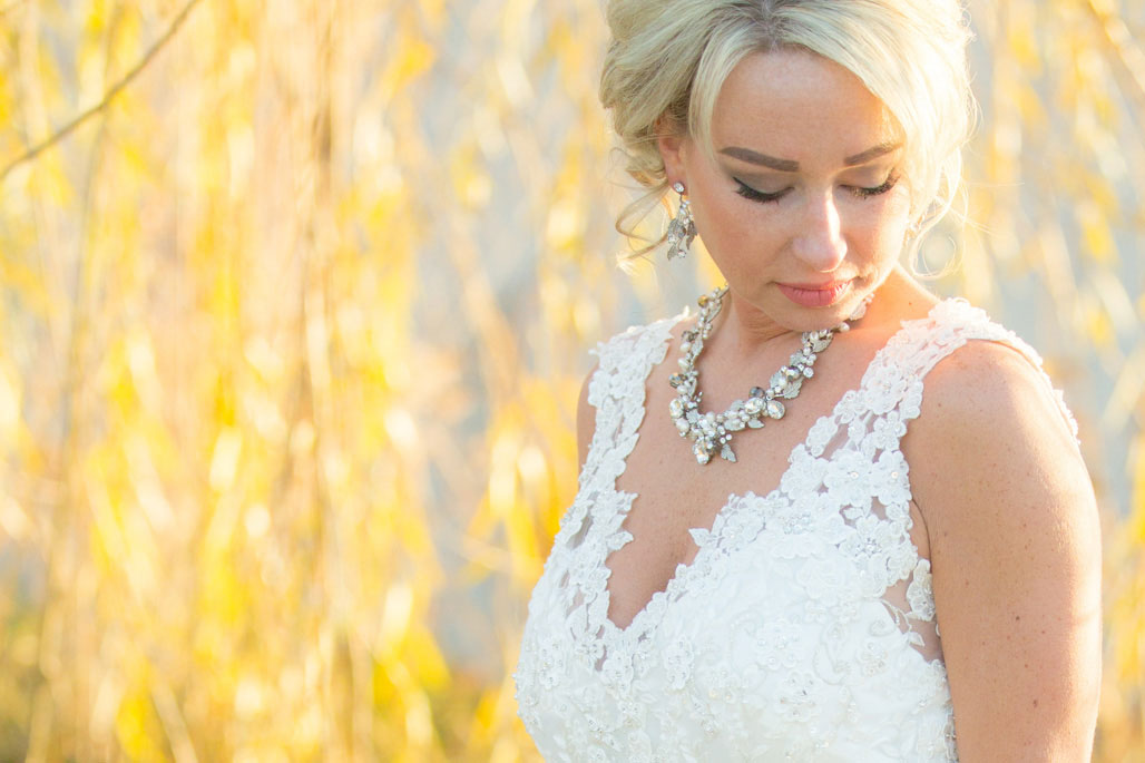 Bride and fall photography