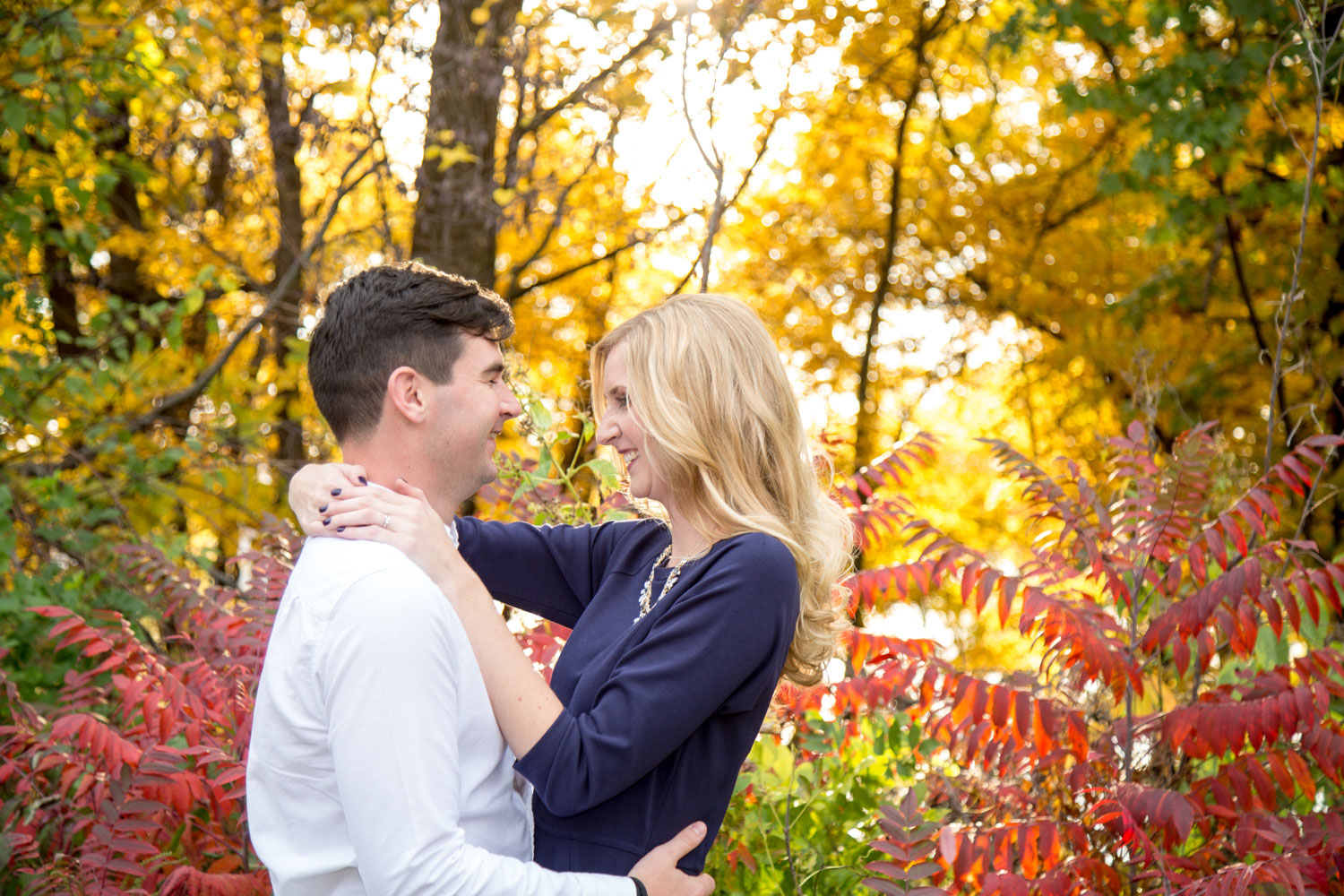 Fall Engagement Photo by Red Door Photo