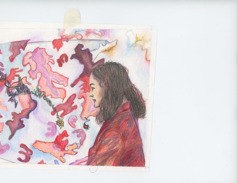 """""""Stoned at the Moma"""" - Colored Pencil ft Han Dai Yu"""