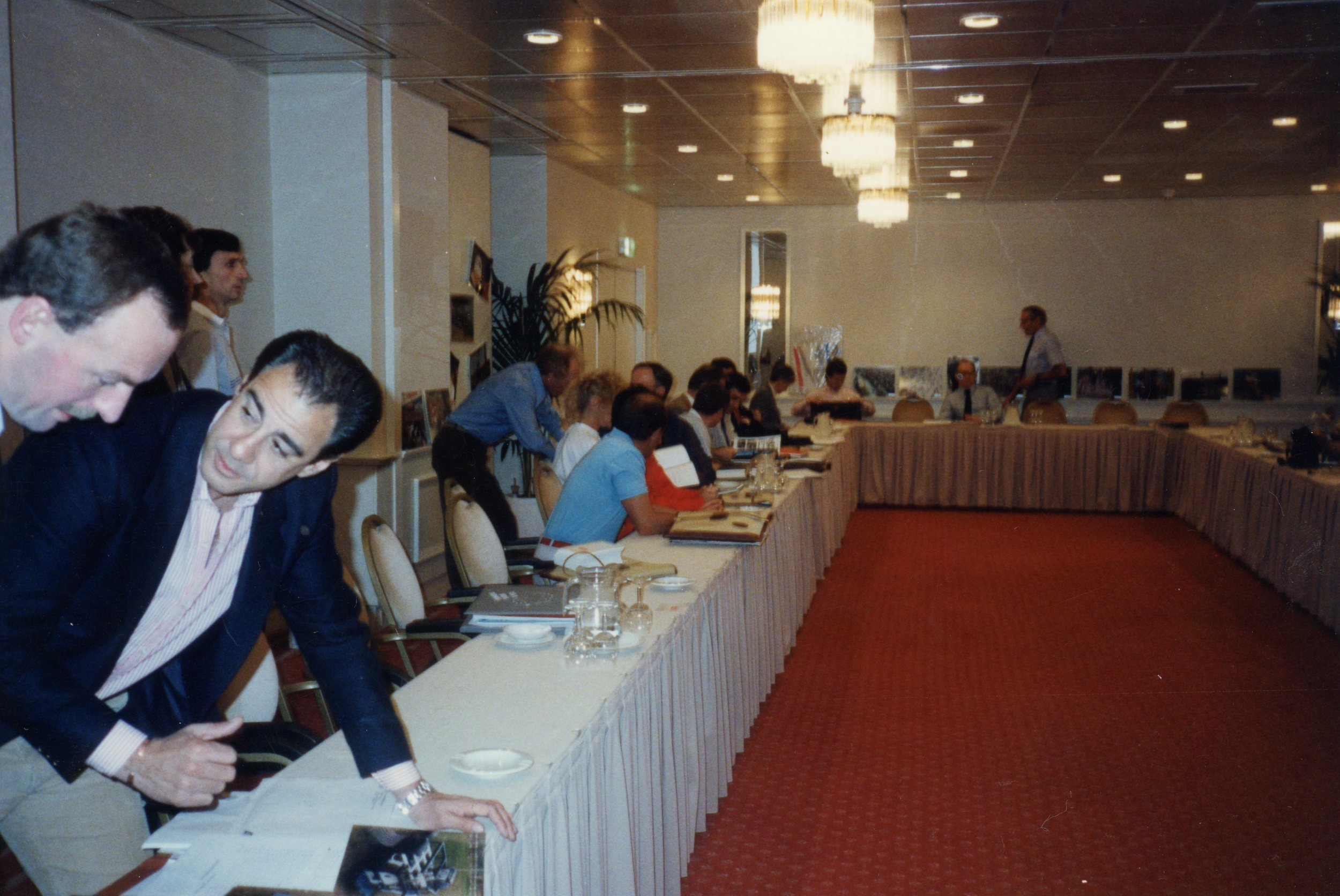 Delegates at the conference. Shown second from left is the Chilean delegate.