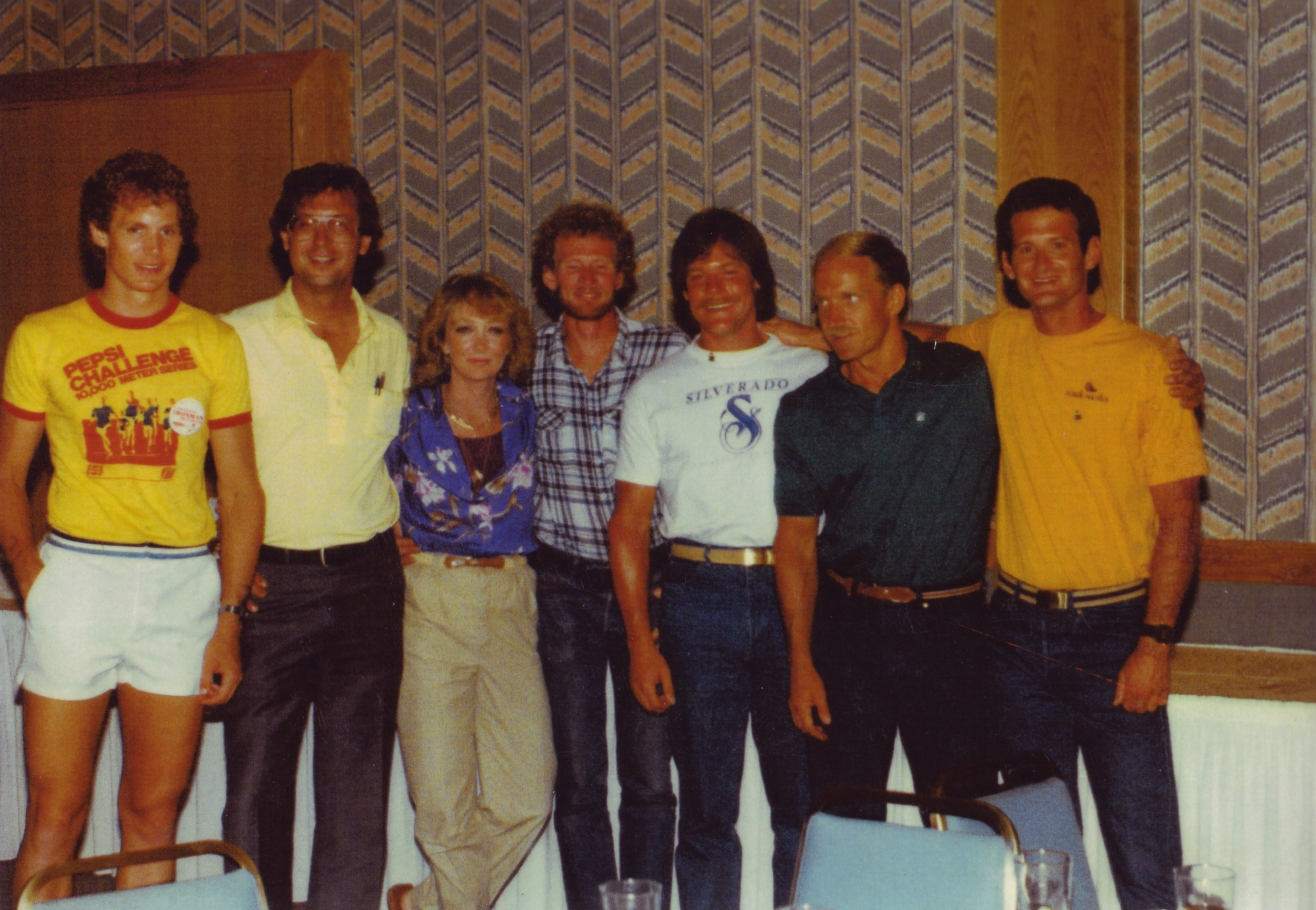 Lynn Van Dove with some of the original race finishers.