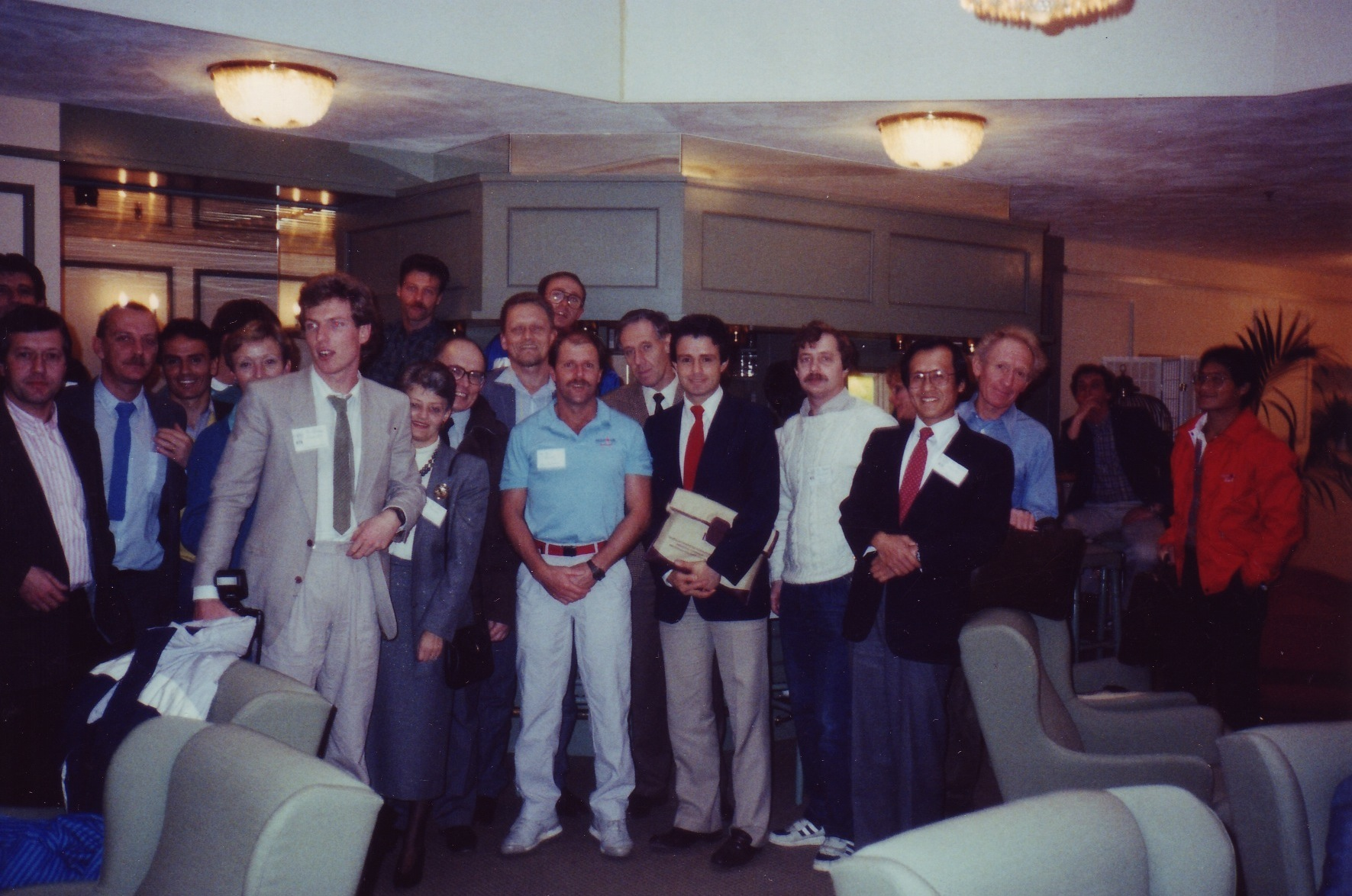 A group photo I took at the end of the conference. Far right is Earl Yamaguchi (Hawaiian Ironman). Third from right (in blue) is Les MacDonald of Canada.