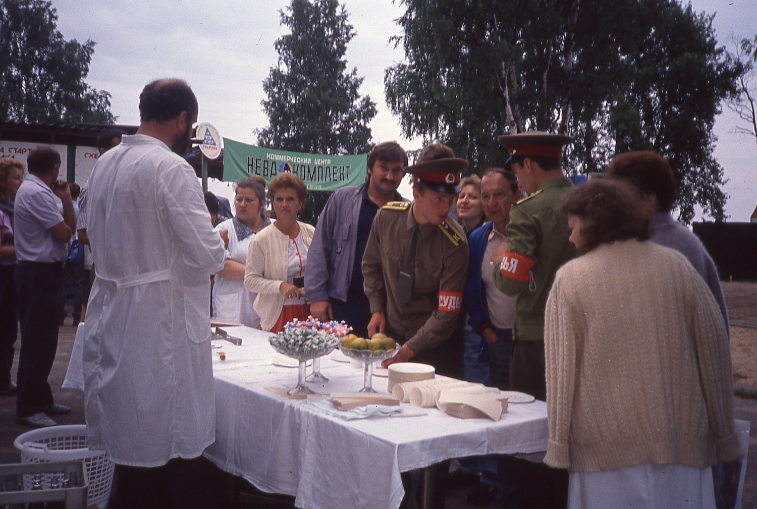Race catering, Soviet style.