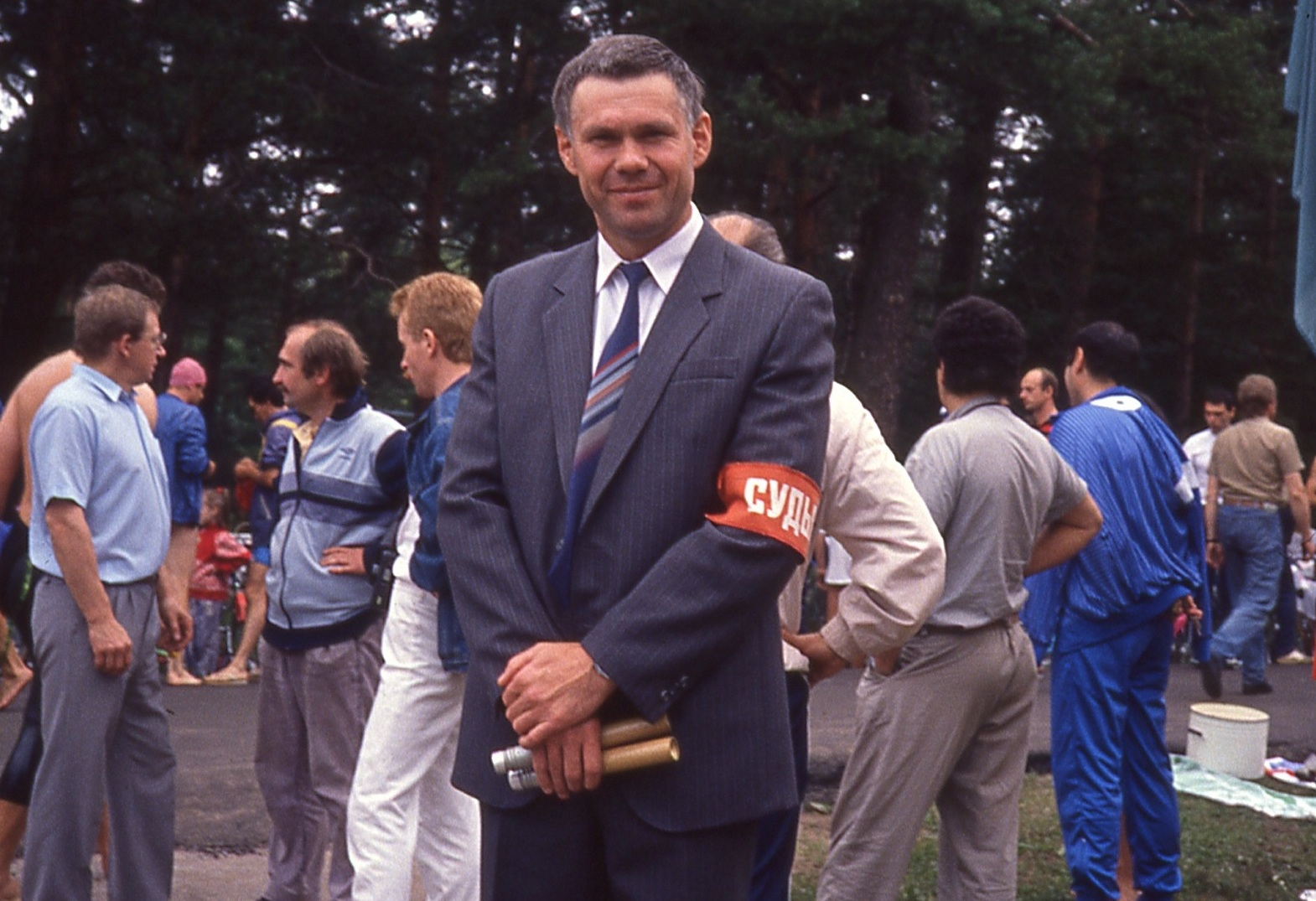 Soviet race official, Zelenogorsk.