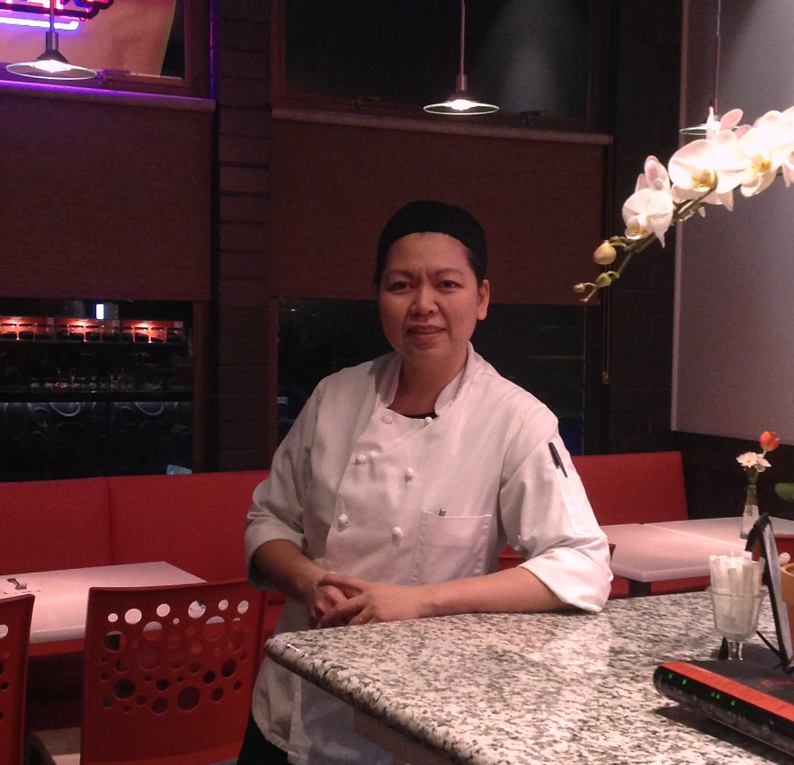 """SASITHORN """"POOKIE""""  EXECUTIVE CHEF                  Pookie   has extensive experience working in the restaurant industry over  twenty years.     Between 1990 and 2013,   Pookie   worked as a line cook, kitchen manager, and Thai chef at several prestigious hotels and restaurants in Thailand, Australia and America.   Pookie likes to create interesting and authentic Thai cuisine."""