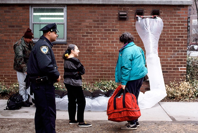 We designed his shelter to be closer to the ground, more like a sleeping bag or some kind of body extension. Thus, if questioned by the police, he could argue that the law did not apply because the shelter was not, in fact, a tent. On more than one occasion, Michael was confronted by police officers. After measuring his shelter, the officers moved on.