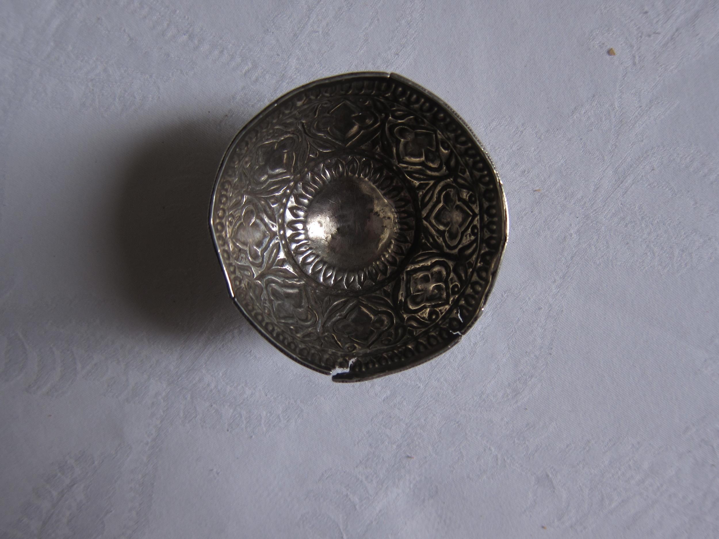 Broken Kiddush cup, Baghdad, Iraq, ca. 19th century.