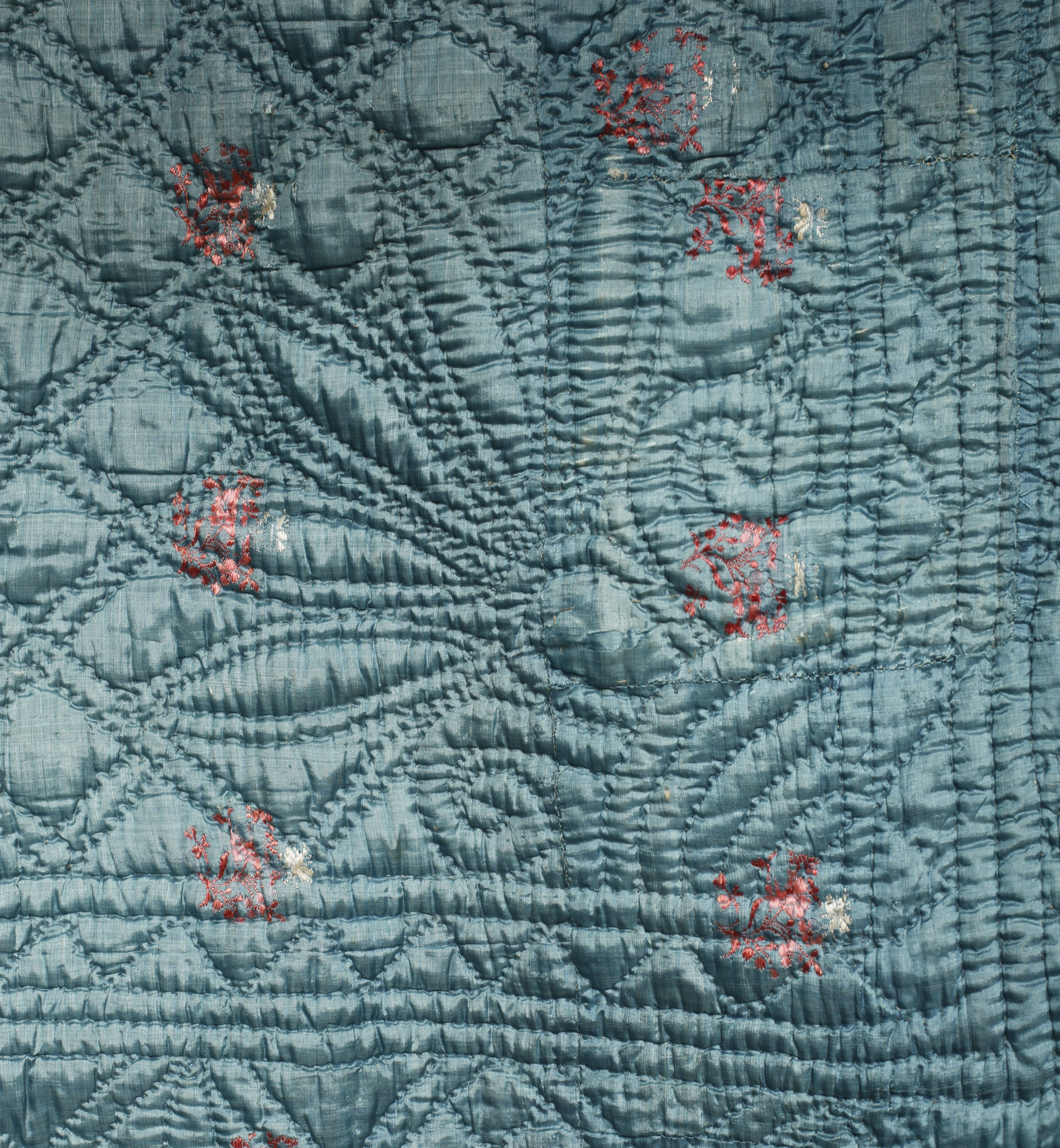 1720 French silk quilt