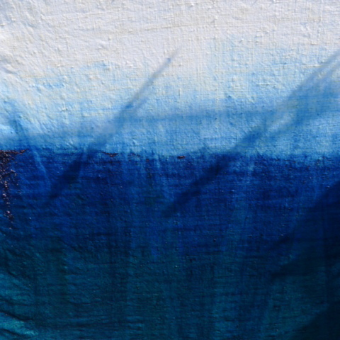 Natural Indigo dip dye test