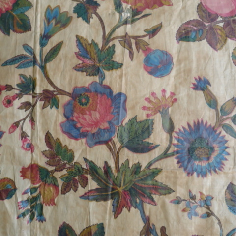 C18th French chintz wood block