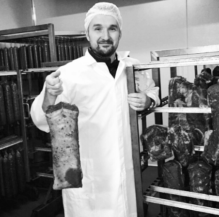 """""""OUR GERMAN SAUSAGE EXPERT""""   Tino, """"The German sausage expert"""" had a long successful career in the European meat industry before he moved to Sydney. He then decided to make authentic top quality sausages for the Australians. Tino value his heritage and keeps it traditional, using the best meat in his sausages. No fillers, no off cuts, no aded hormones, no artificial colour or preservatives."""