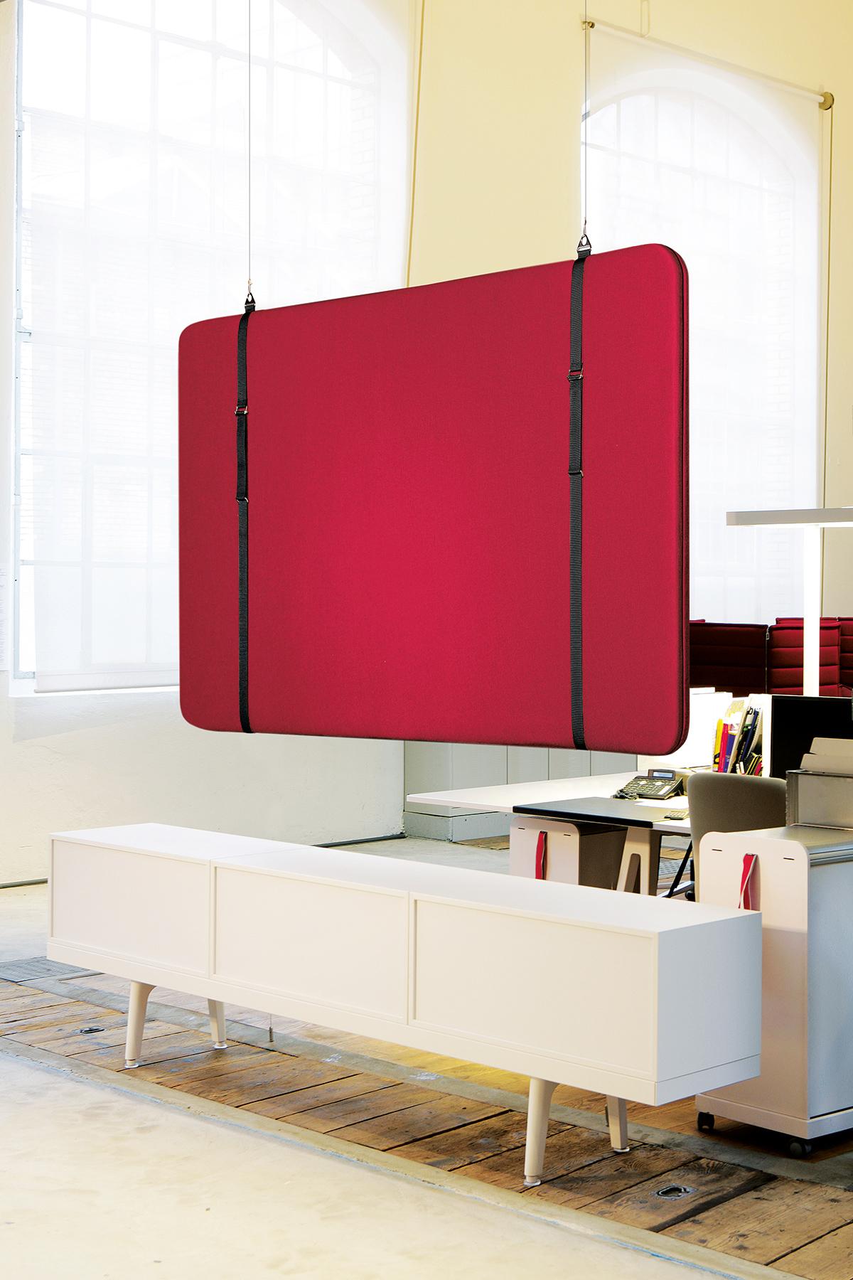 SILENTO SOSPESO  Le modèle suspendu librement est installé au plafond à l'aide d'un câble fin.