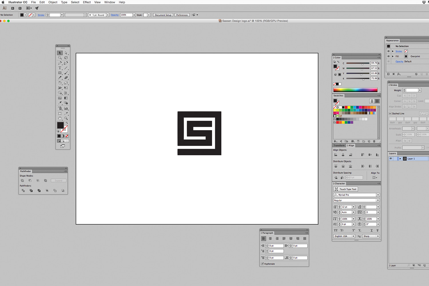 Step 1 The artwork is created in Adobe Illustrator and exported as a .DWG file