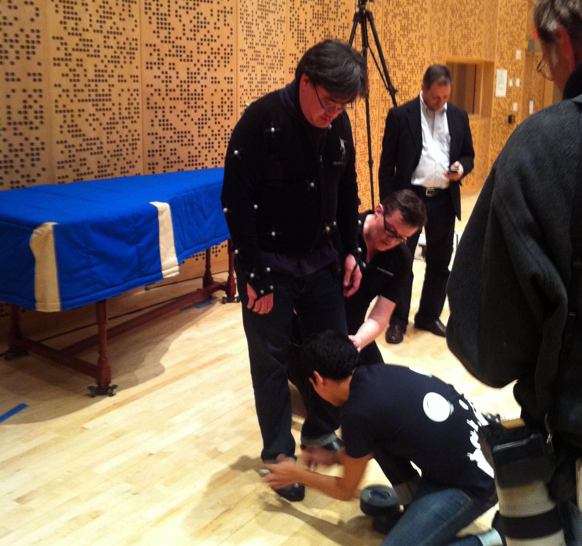 Motion Capture suit test in the studio.