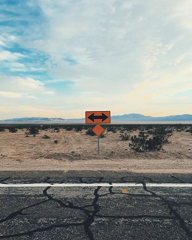 Decisions. Lots to be made. But for now left or right? #desertsigns