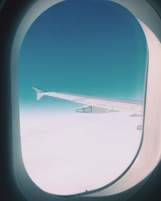 Sitting in a tin can, far above the world. #flyinghome #majortom