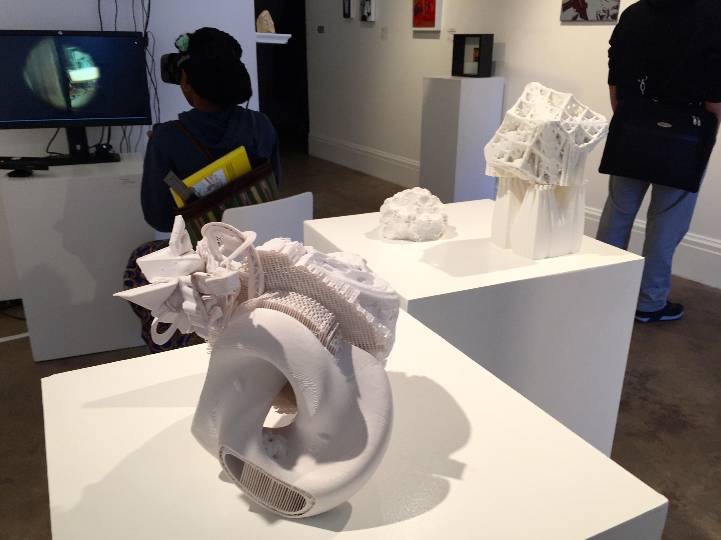 Fractal Series 2 ABS plastic 3D printed assemblages  at the Non-Fiction Gallery for PULSE Tech+Art Festival 2015  . View 2.