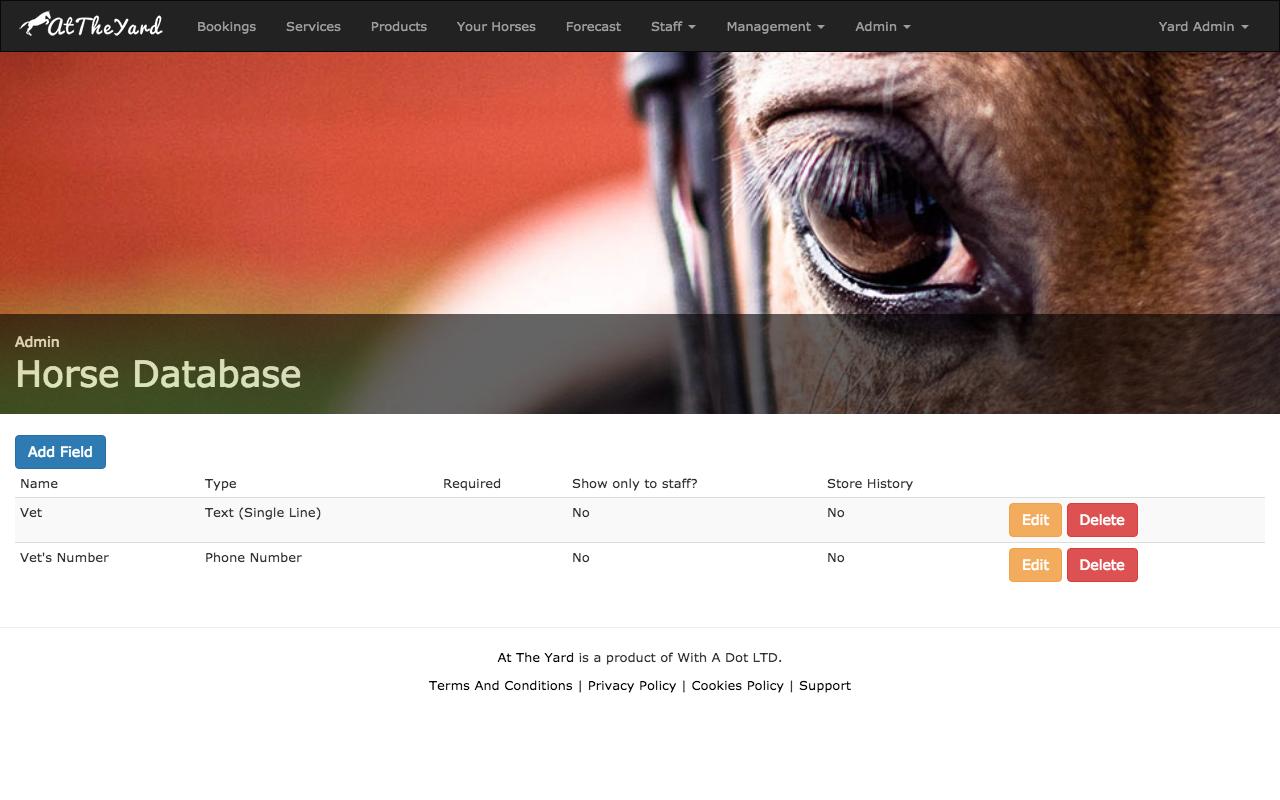 Horse Information Database Set Up