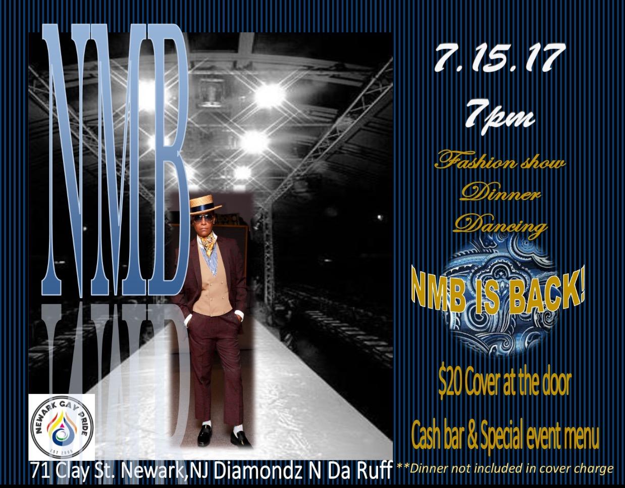 Saturday, July 15th - 7pm - 10pmNew Millennium ButchDiamondz-N-Da-Ruff Café & Lounge71 Clay Street, Newark, NJ