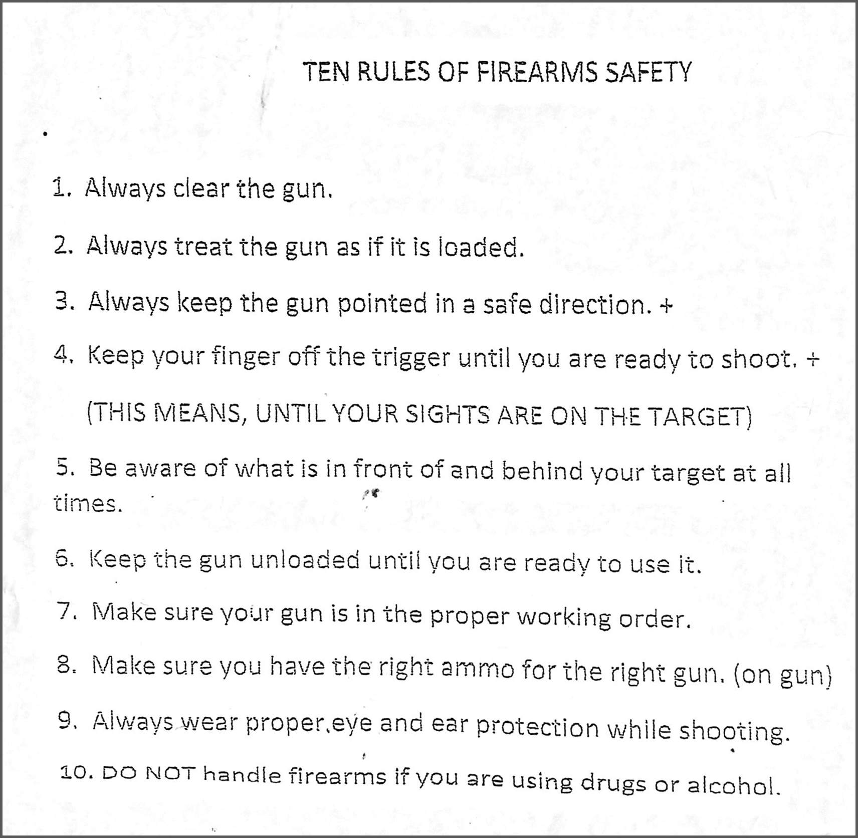 picture about Printable Gun Safety Rules titled Protection World wide Martial Arts Middle