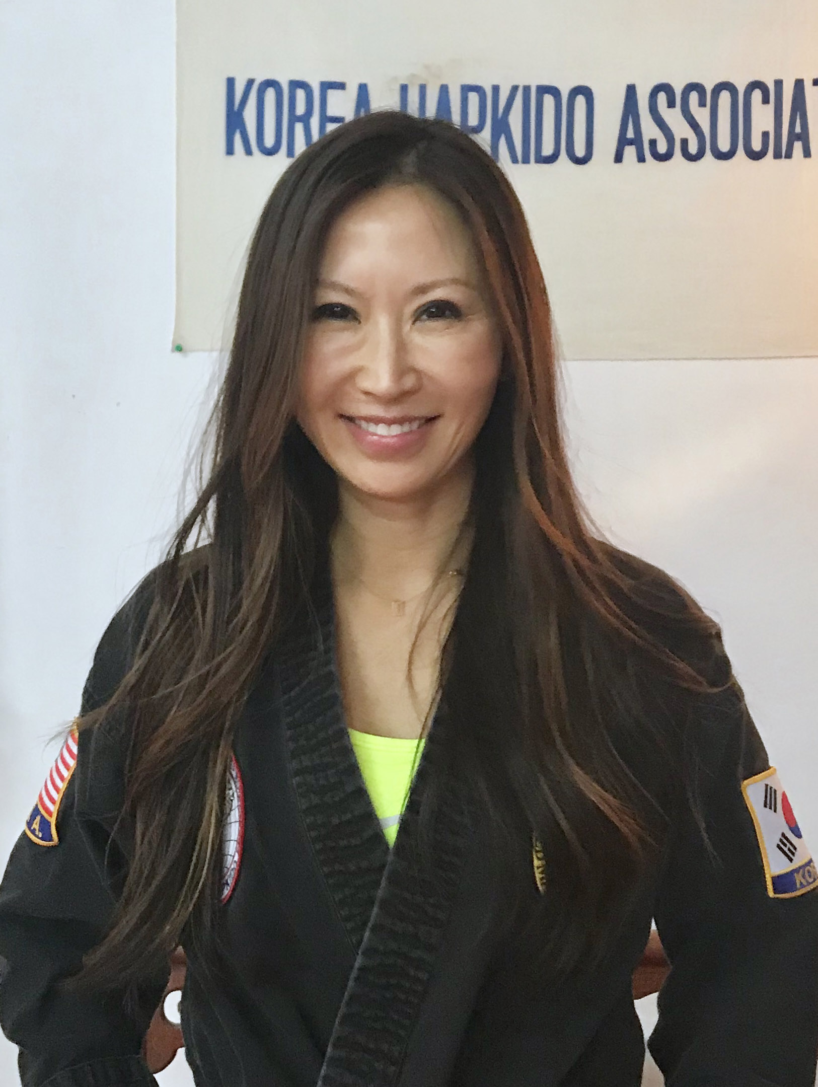 Senior instructor Mindy Nam  has over 25 years experience in marital arts with a black belt in Tae Kwon Do and is working towards her 3rd Dan in HapKiDo.  She is also a student of Chi Gong, Tai Chi, yoga and energy work. She is an attorney and is active on many boards of charitable organizations.