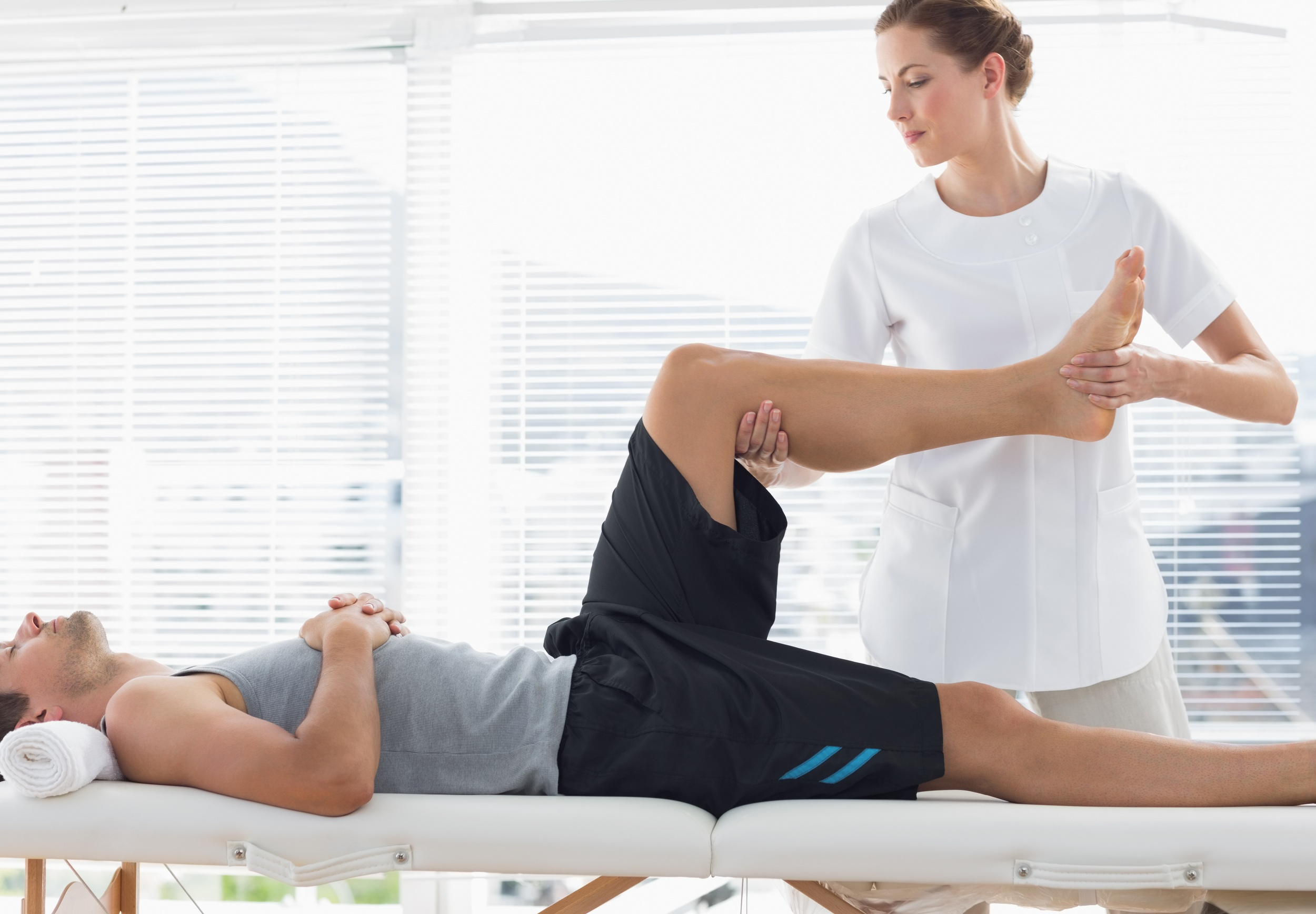 Physical Therapist Practicing Spinal Reflex Therapy